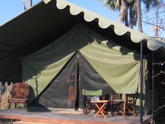 Exterior view of the tent at Jack's Camp