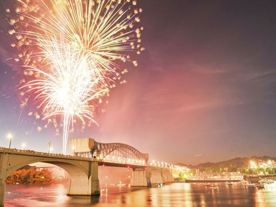 4th July fireworks over Chattanooga