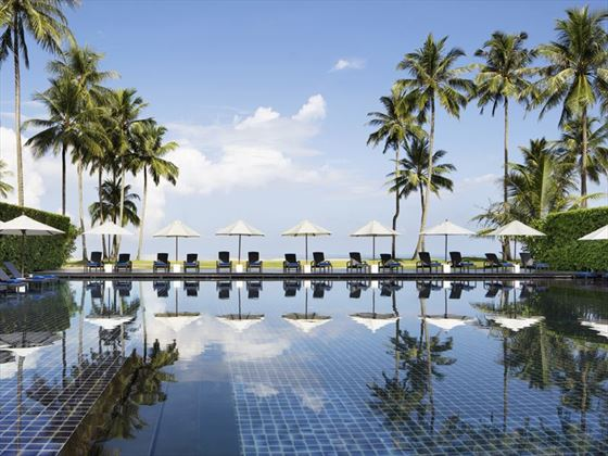 The infinity pool at JW Marriott Khao Lak