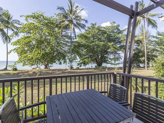 Villa decking at Kantary Beach Hotel Khao Lak