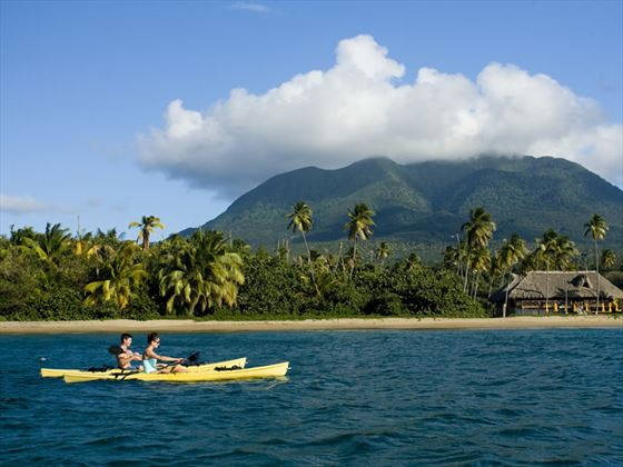 Kayaking at Nelson Spring, Nevis