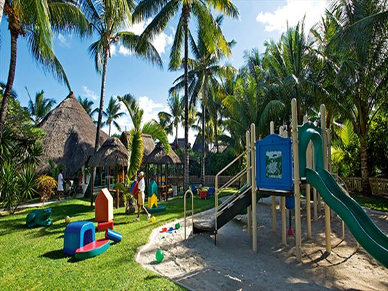 Kids playground at La Pirogue