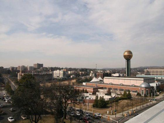 Area of Knoxville, Tennessee