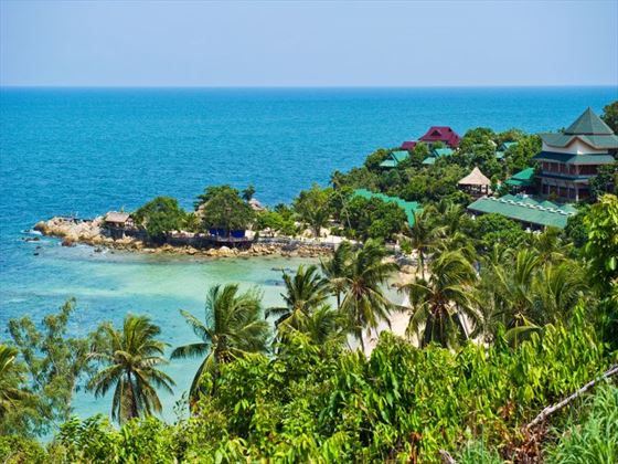 Aerial view of Koh Phangan