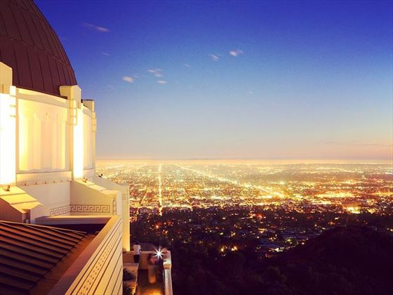 LA city view from Griffith Observatory