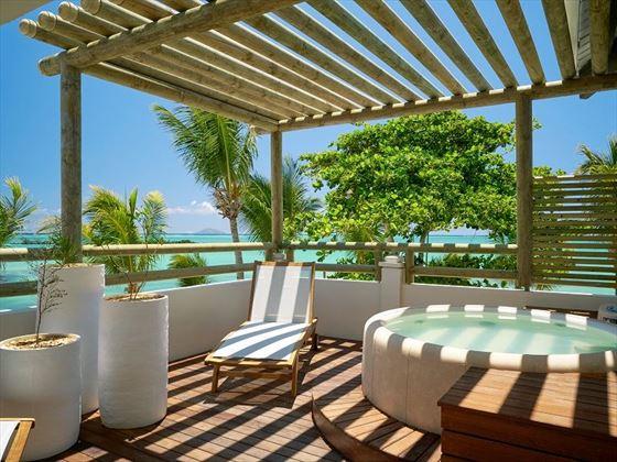 Whirlpool Suite terrace at Lagoon Attitude