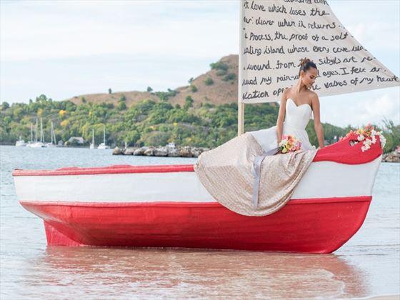 Beautiful wedding setting at The Landings