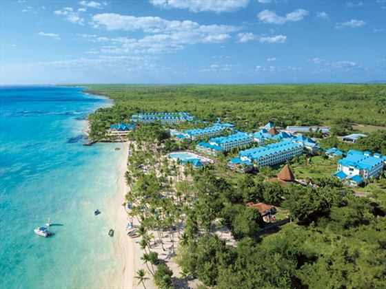 An aerial view of Dreams La Romana