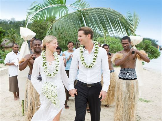 Beautiful striking weddings at Likuliku Lagoon Resort