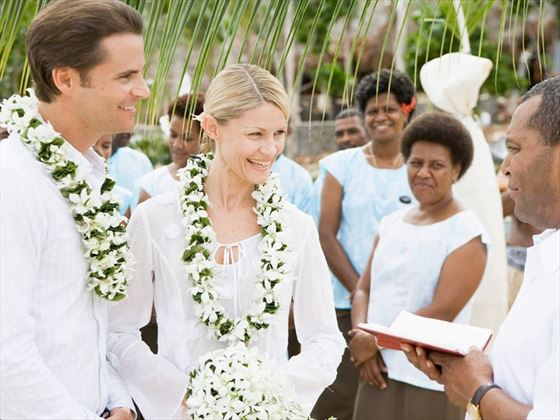 Wedding ceremony on Likuliku Lagoon Resort