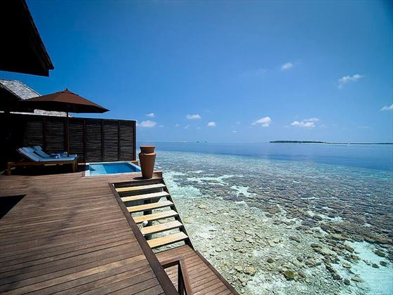 Lily Beach Resort & Spa Deluxe Water Villa terrace