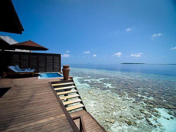 Lily Beach Resort & Spa Deluxe Water Villa terrace