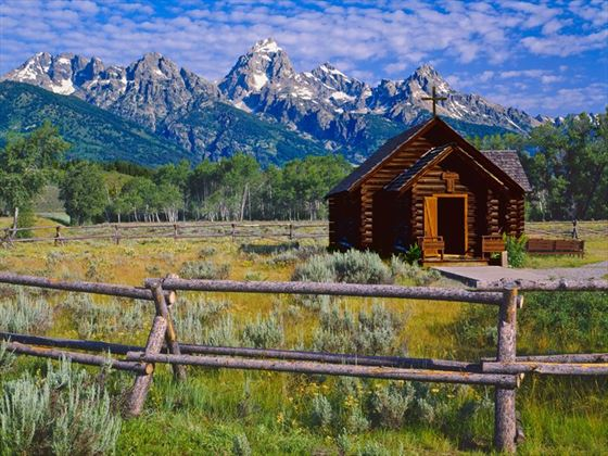 Chapel on the Grand Teton prairie