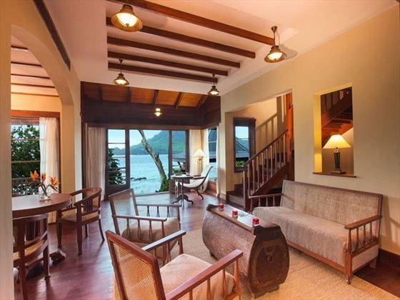 Living room at Enchanted Island Resort