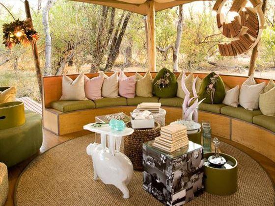 Living room at Xaranna Tented Camp