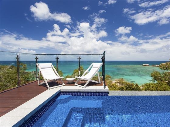 Lizard Island Villa deck chairs and views