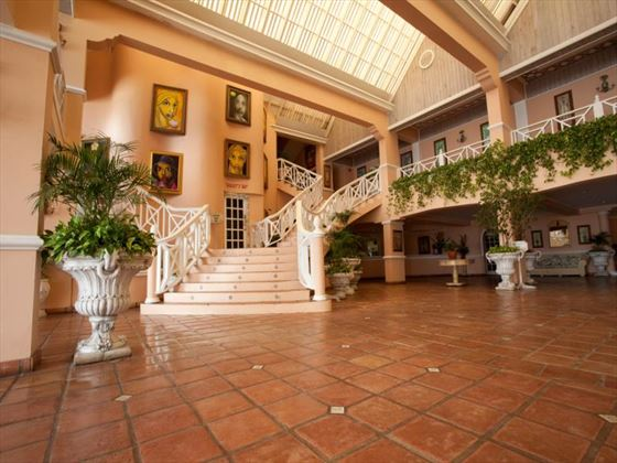 Lobby area of Coco Reef Resort