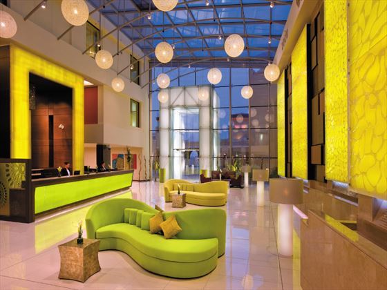 Lobby lounge at Traders Hotel