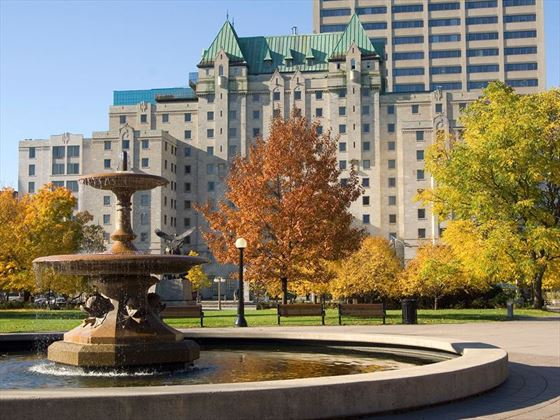 View of Lord Elgin from Confederation Park
