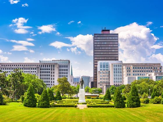 Louisiana skyline viewed from the State Capitol