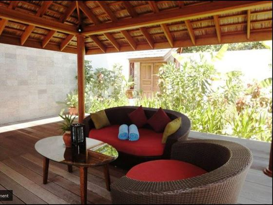 Lounge area at Kuredu Island Resort