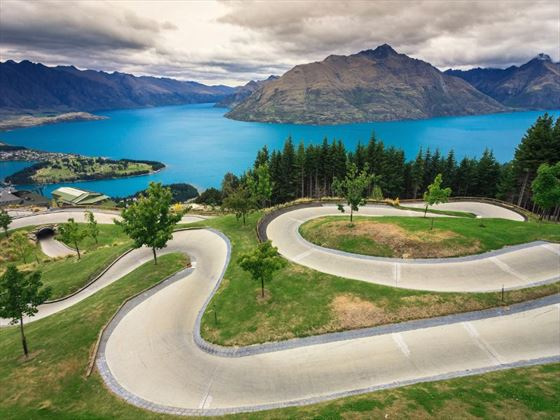 Luge track in Queenstown