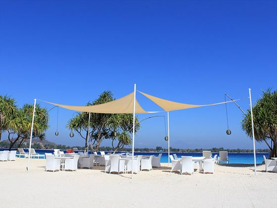 Beach at MAHAMAYA Boutique Resort, Gili Meno
