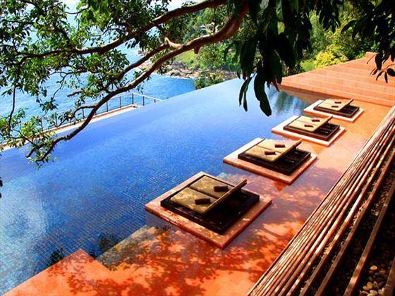 Main infinity swimming pool at Paresa