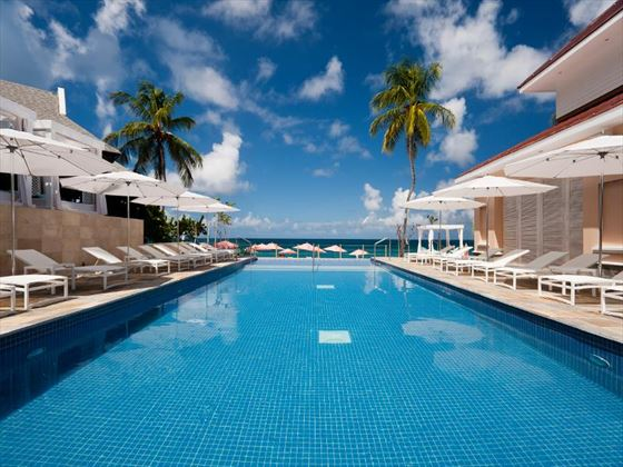 Main pool area at The BodyHoliday