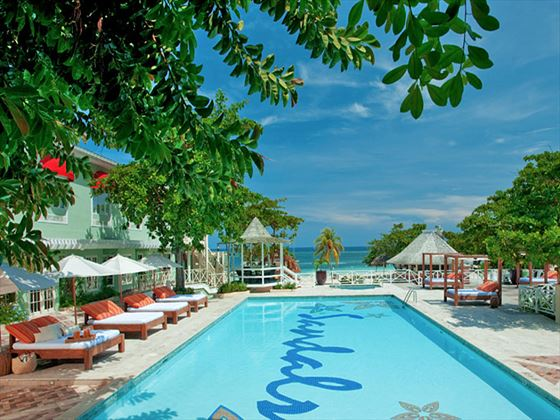 Main swimming pool at Sandals Montego Bay