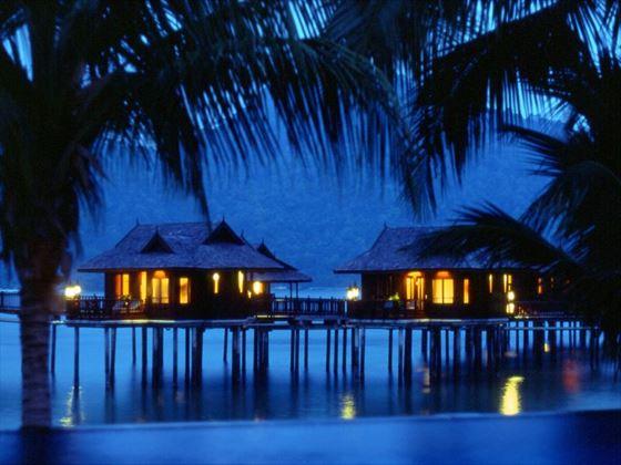 Malaysian over-water huts