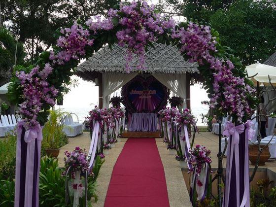 Wedding setting at Khao Lak Merlin Resort