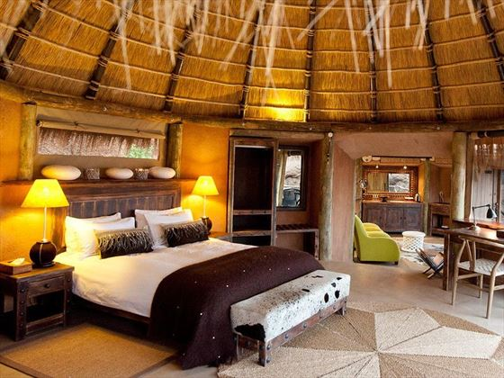 Mini Suite bedroom at Camp Kipwe