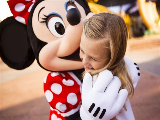 Minnie Mouse and guest.
