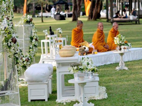 The Thai style wedding setting