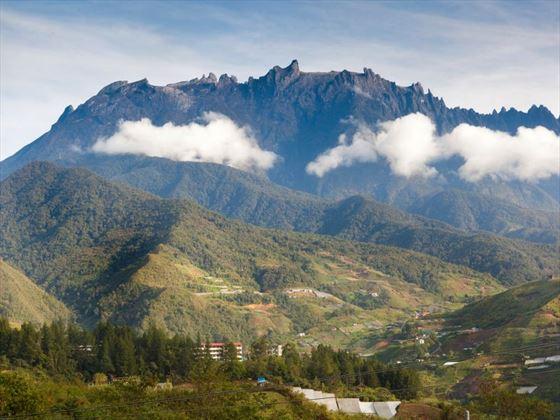 Mount Kinabalu in the morning