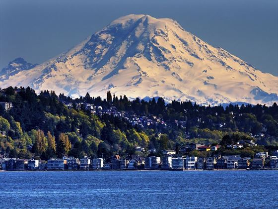 Mount Rainer overlooking Puget Sound, Seattle, Washington
