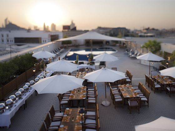 Movenpick Hotel & Apartments Bur Dubai rooftop dining
