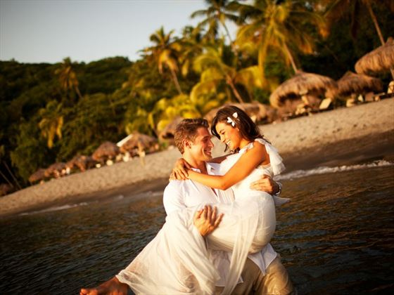 New;y married at Anse Chastanet