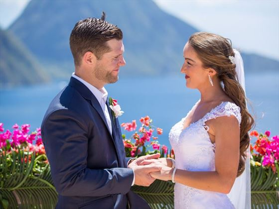 A glorious Caribbean wedding at Jade Mountain