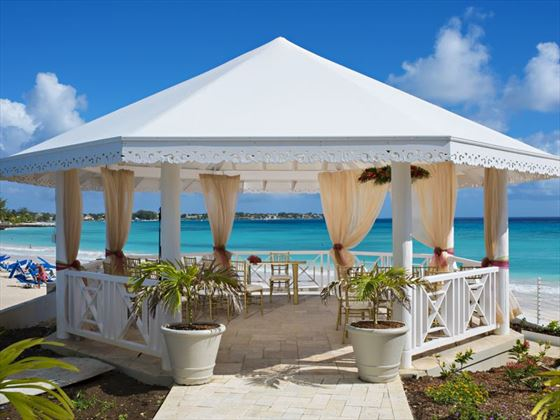 Gazebo wedding at Sea Breeze Beach House