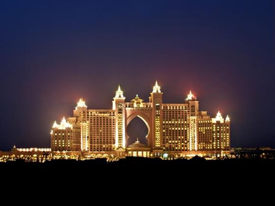 Exterior view of Atlantis The Palm at night