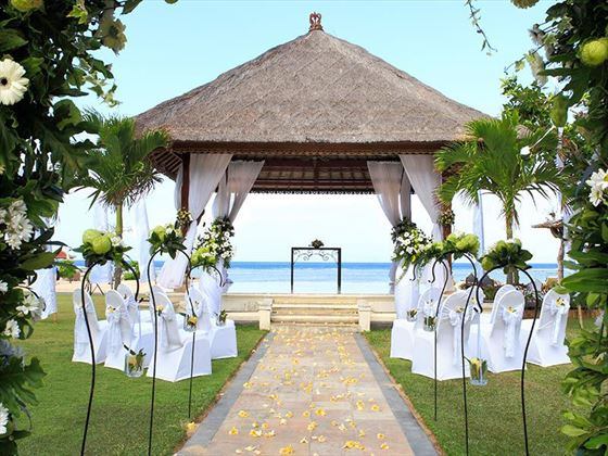 Nusa Dua Beach Hotel wedding setting