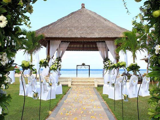 Nusa Dua Beach Hotel wedding setting