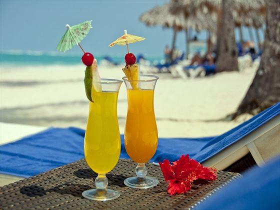Beach drinks, Occidental Grand Punta Cana