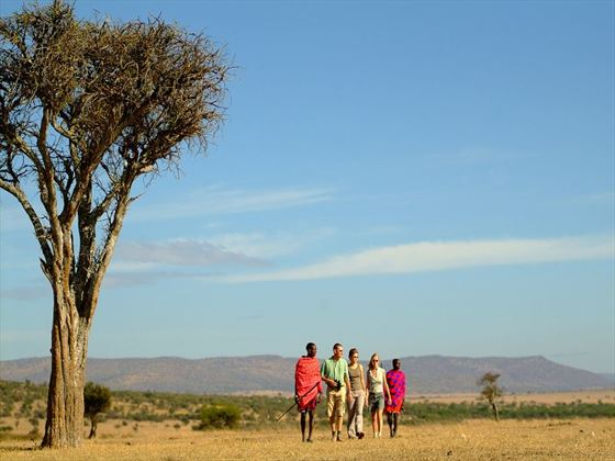 Walk with Masai warriors through Ol Kinyei Conservancy