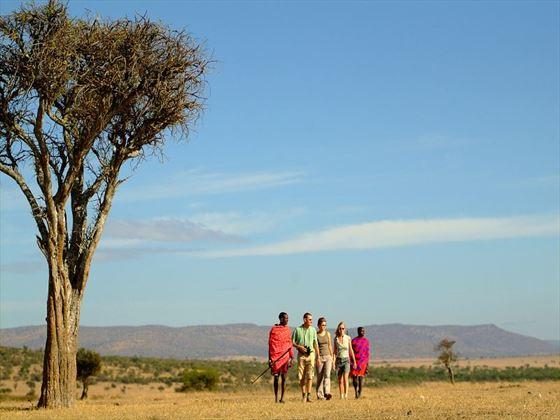 Walk with Masai warriors through Ol Kinyei Conservancy