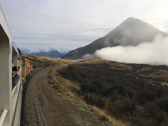 On the TranzAlpine train