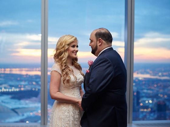 Bride & Groom at One World Observatory