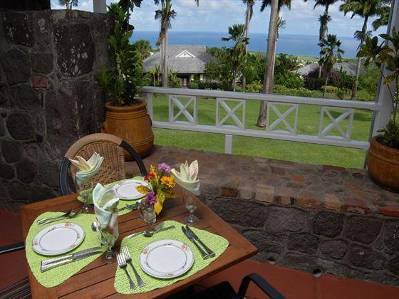 Ottley's Plantation Inn al fresco dining
